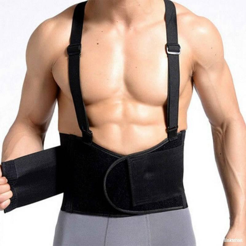 Back brace mesh Breathable adjustable waist support belt